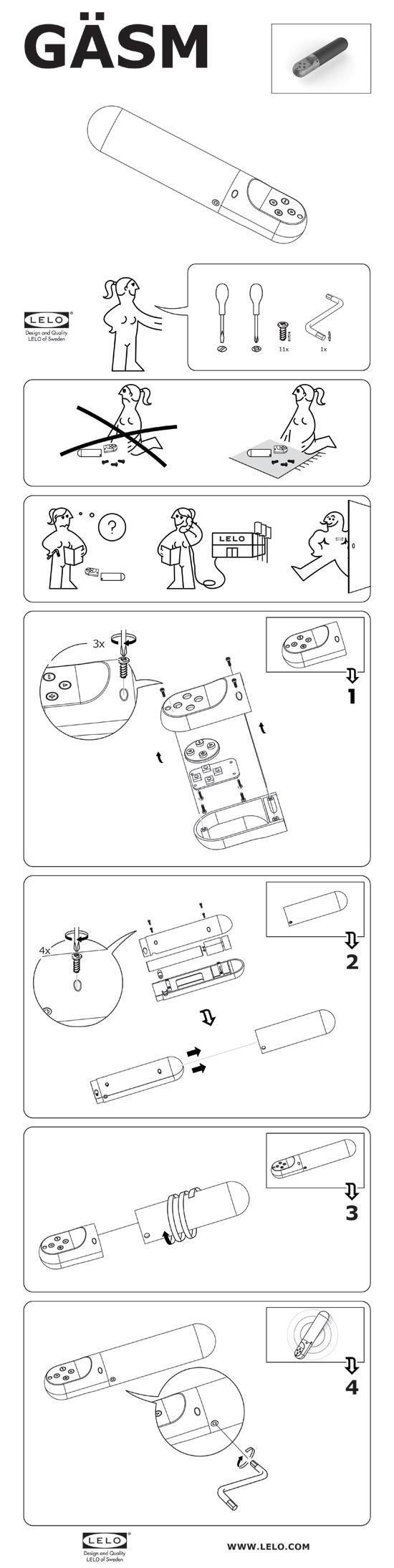 GASM Instructions 130328 GӒSM   ekologiczny wibrator LELO